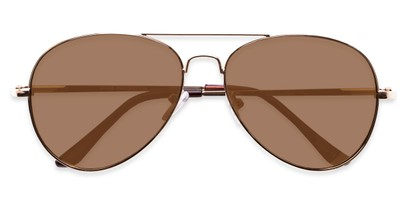 Folded of Admiral #490 in Gold Frame with Brown Lenses