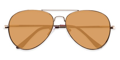 Folded of Admiral #490 in Gold Frame with Mirrored Lenses
