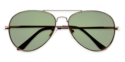 Folded of Admiral #490 in Gold Frame with Green Lenses