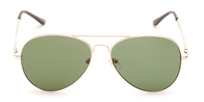 Front of Admiral #490 in Gold Frame with Green Lenses