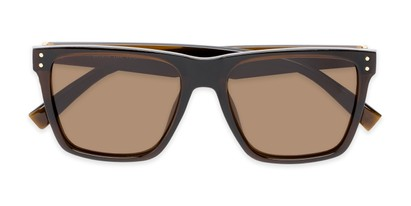 Folded of Aiden #54106 in Glossy Brown Frame with Amber Lenses