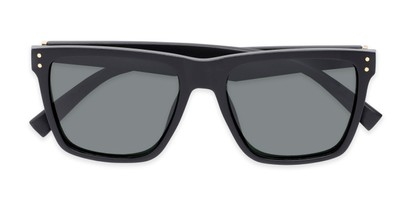 Folded of Aiden #54106 in Glossy Black Frame with Grey Lenses