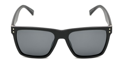 Front of Aiden #54106 in Glossy Black Frame with Grey Lenses