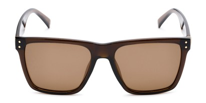 Front of Aiden #54106 in Glossy Brown Frame with Amber Lenses