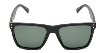 Front of Aiden #54106 in Matte Black Frame with Green Lenses