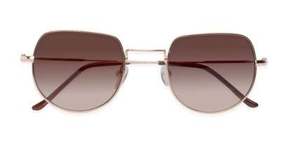 Folded of Aldo #7093 in Gold Frame with Amber Lenses