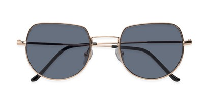 Folded of Aldo #7093 in Gold Frame with Grey Lenses