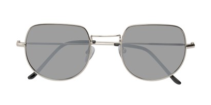 Folded of Aldo #7093 in Silver Frame with Silver Mirrored Lenses