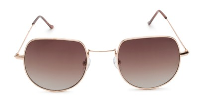 Front of Aldo #7093 in Gold Frame with Amber Lenses
