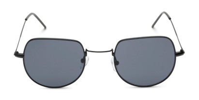 Front of Aldo #7093 in Black Frame with Grey Lenses