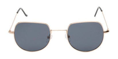 Front of Aldo #7093 in Gold Frame with Grey Lenses