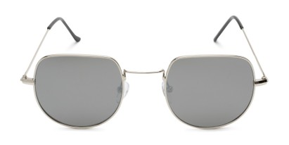 Front of Aldo #7093 in Silver Frame with Silver Mirrored Lenses