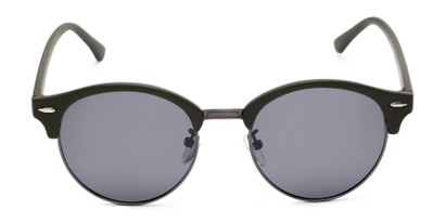 Front of Allman #2025 in Matte Green Frame with Grey Lenses