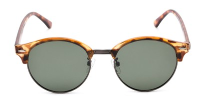 Front of Allman #2025 in Glossy Tortoise Frame with Green Lenses