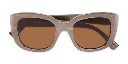 Folded of Amelia #6971 in Bronze Frame with Amber Lenses