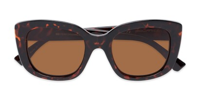 Folded of Amelia #6971 in Tortoise Frame with Amber Lenses