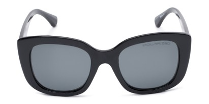 Front of Amelia #6971 in Black Frame with Grey Lenses