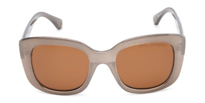 Front of Amelia #6971 in Bronze Frame with Amber Lenses
