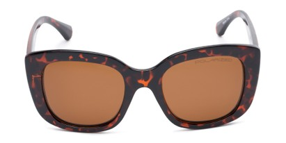 Front of Amelia #6971 in Tortoise Frame with Amber Lenses