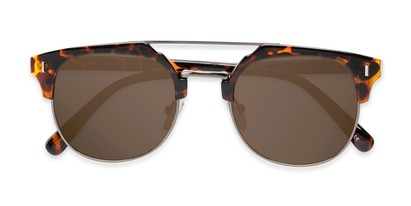 Folded of Anaheim #7080 in Tortoise/Gold Frame with Gold Lenses