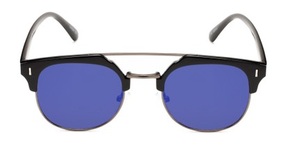 Front of Anaheim #7080 in Glossy Black/Grey Frame with Purple Lenses