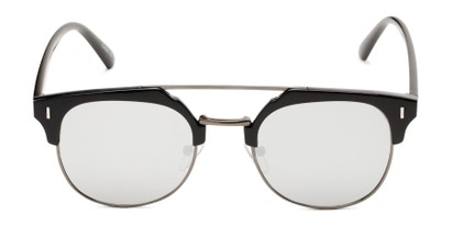 Front of Anaheim #7080 in Glossy Black/Grey Frame with Silver Lenses