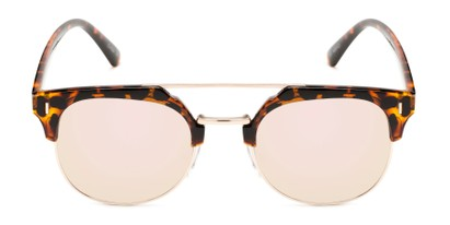 Front of Anaheim #7080 in Tortoise/Gold Frame with Pink Lenses
