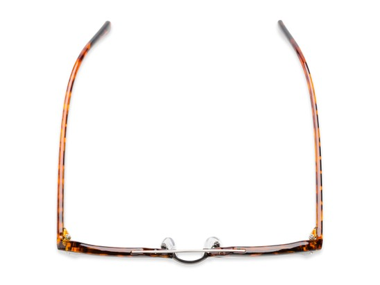 Overhead of Anaheim #7080 in Tortoise/Gold Frame with Gold Lenses