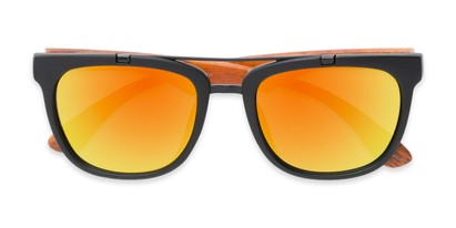 Folded of Anderson #5408 in Black/Brown Frame with Orange Mirrored Lenses