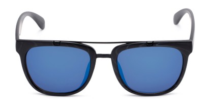 Front of Anderson #5408 in Black Frame with Blue Mirrored Lenses