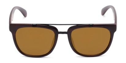 Front of Anderson #5408 in Brown Frame with Gold Mirrored Lenses