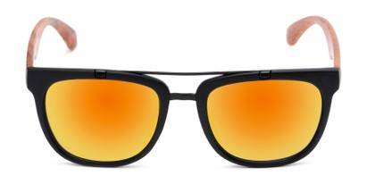 Front of Anderson #5408 in Black/Brown Frame with Orange Mirrored Lenses