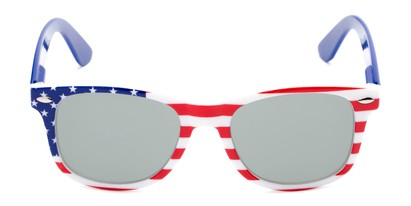 Front of Anthem #7004 in Stars and Stripes Frame with Silver Mirrored Lenses