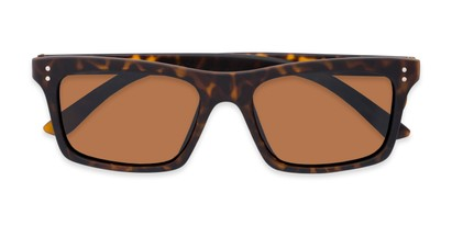 Folded of Arcadia #719 in Matte Tortoise Frame with Brown Lenses