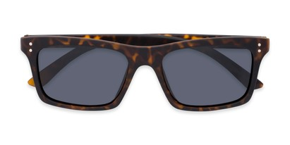 Folded of Arcadia #719 in Matte Tortoise Frame with Grey Lenses