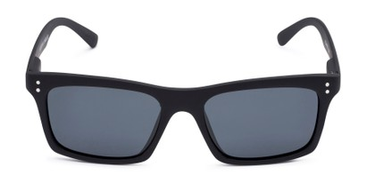 Front of Arcadia #719 in Matte Black Frame with Grey Lenses