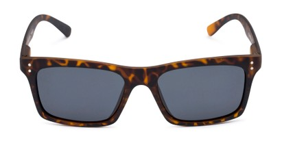 Front of Arcadia in Matte Tortoise Frame with Grey Lenses