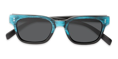 Folded of Argun #1550 in Black/Blue Frame with Grey Lenses