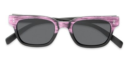 Folded of Argun #1550 in Black/Pink Frame with Grey Lenses