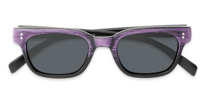 Folded of Argun #1550 in Black/Purple Frame with Grey Lenses