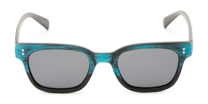 Front of Argun #1550 in Black/Blue Frame with Grey Lenses