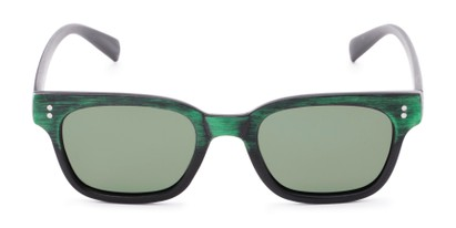 Front of Argun #1550 in Black/Green Frame with Green Lenses