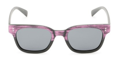 Front of Argun #1550 in Black/Pink Frame with Grey Lenses