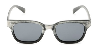 Front of Argun #1550 in Black/White Frame with Grey Lenses