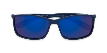 Folded of Aruba #8570 in Blue Frame with Blue Mirrored Lenses