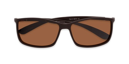 Folded of Aruba #8570 in Brown Frame with Amber Lenses