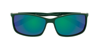 Folded of Aruba #8570 in Dark Green Frame with Blue Mirrored Lenses