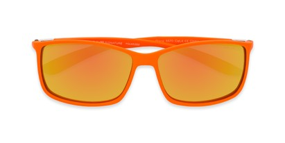 Folded of Aruba #8570 in Orange Frame with Yellow Mirrored Lenses