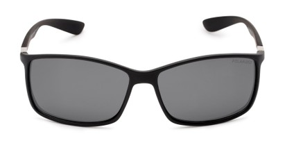 Front of Aruba #8570 in Black Frame with Grey Lenses