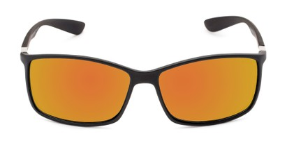 Front of Aruba #8570 in Black Frame with Yellow Mirrored Lenses